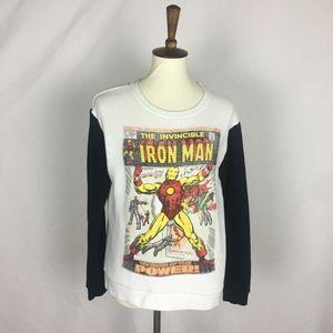 * Iron Man Long Sleeve Sweater *